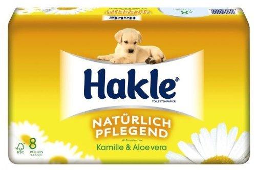(Lokal Kik)  Hakle Toilettenpapier 3lagig 8 Rollen 1€