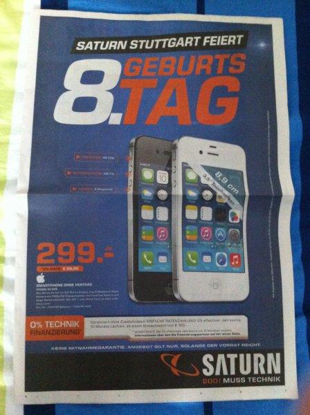 [LOKAL] Apple iPhone 4S für 299€ [Saturn-Stuttgart]