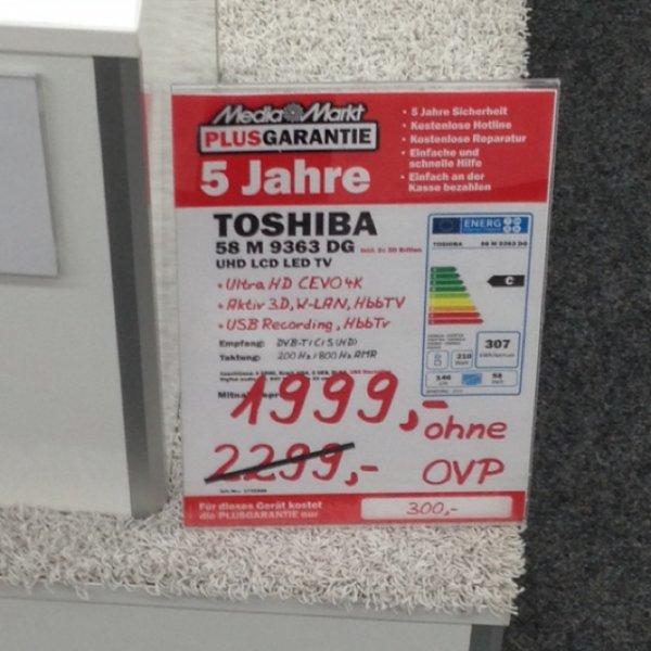 [lokal Dresden MM Elbepark] Toshiba 58M9363DG UHD Fernseher