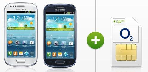 Samsung Galaxy S3 mini für 118,80€ (statt 144€) + GRATIS Festnetz-Flat + o2-Flat + 300MB Surf-Flat