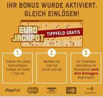 *TIPP* 1 kostenloses Eurojackpot-Feld bei JAXX
