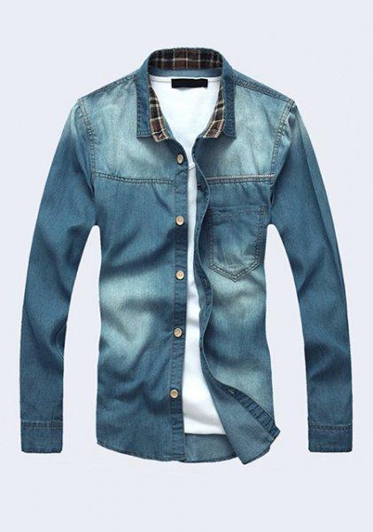 Frühling 2014 Stilisches Kragenhemd im Casual Wear Design - 10.99€ + 6.99€ Versandkosten