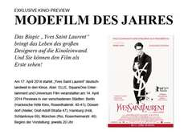 """Kinokarten für """" Yves Saint Laurent"""""""
