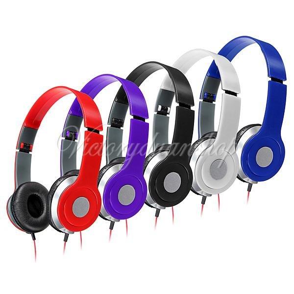 Stereo Kopfhörer Ohrhörer Headset Faltbar für Handys PC Mp3 Player 3,5mm klinke
