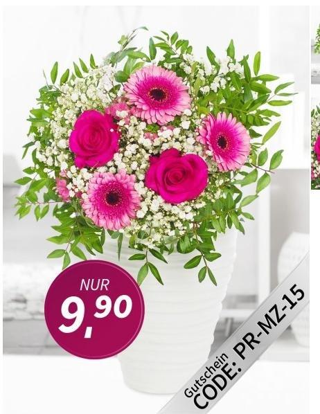 Blumenstrauß Prosa/Lemon für 9,90€ inkl. VSK (statt 24,90 bzw. 19,90) durch Gutscheincode @ Miflora