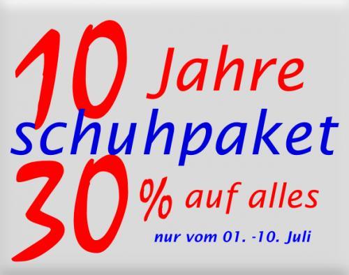 30 % auf alles bei Schuhpaket.com