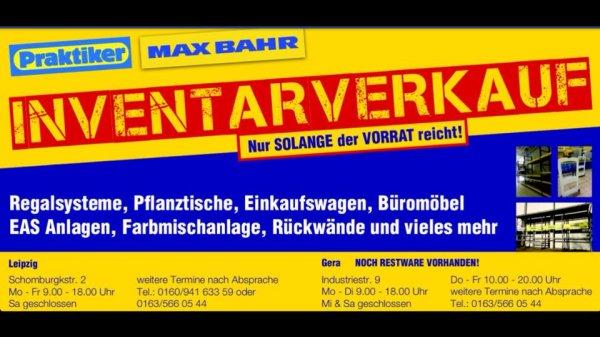 [Lokal Leipzig + Gera] Inventarverkauf Praktiker Max Bahr