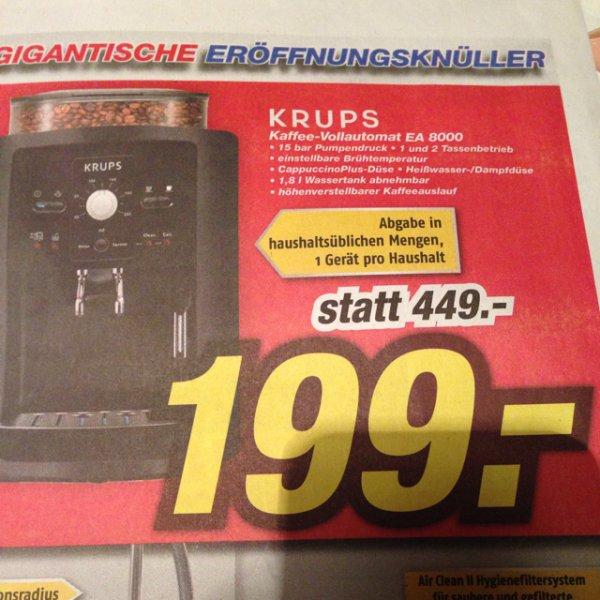 Krups EA8000 Kaffee Vollautomat IKS Neueröffnung