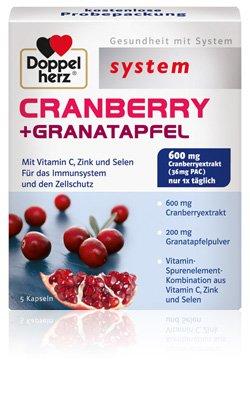 Gratismuster Doppelherz System Cranberry-Granatapfel