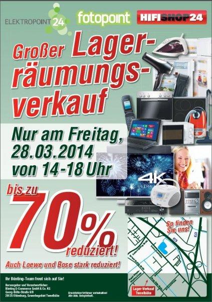 [LOKAL Oldenburg] Lagerverkauf Bünting Ecommerce(D-living.de/Elektropoint24.de/Hifishop24.de/Fotopoint.de/etc.)