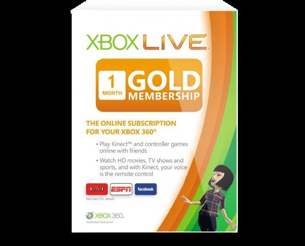 XBOX Live Gold 1 Monat für 2,19 EUR