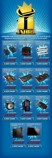[Sammel-Deal] Caseking feiert jetzt 11 Jahre Jubiläum mit krassen Angeboten und Rabatten, z.B. alle MSI Mainboards -33%, Gaming System -100€ uvm