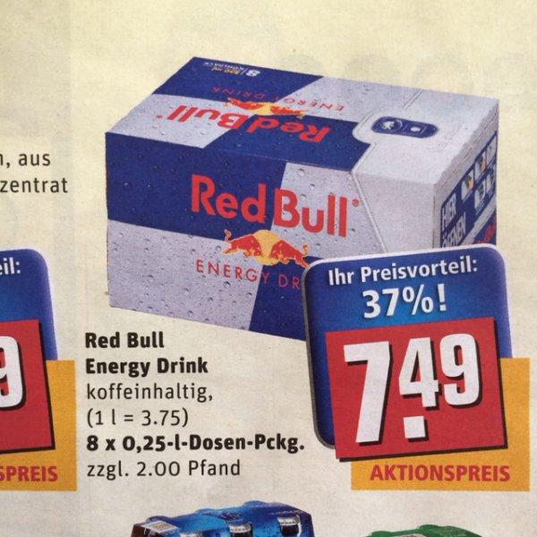Red Bull 8er Pack - [0,93€ pro Dose] REWE