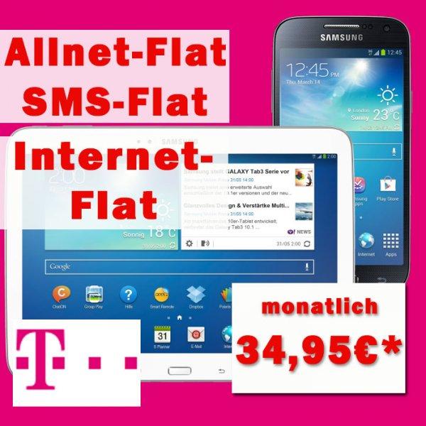 Samsung Galaxy S4 + Galaxy Tab 3 10.1 16GB WiFi mit Telekom Special Allnet