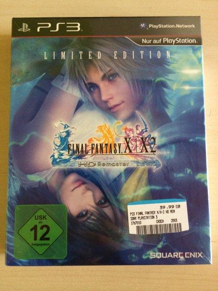 Final Fantasy X | X2 HD Remaster Limited Edition [PS3] für 39,99 € bei Media Markt und Müller im Mercado Nürnberg