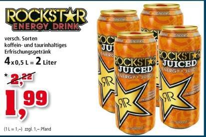 [Thomas Philipps] ROCKSTAR ENERGY DRINK 0,5L Dose nur 0,49 EUR (beim Kauf von 4 stk)