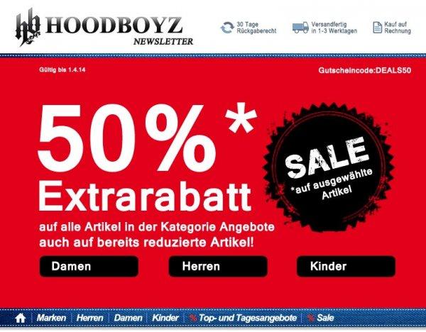 Hoodboyz 50% auf alle Artikel in der Kategorie Angebote
