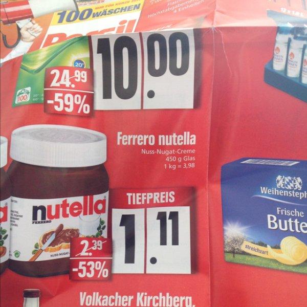 [Lokal Kitzingen] Edeka Center Kitzingen Nutella 450g Wiedereröffnung