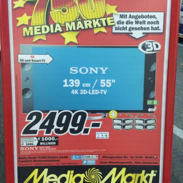 UHD/4k!!! Sony KD 55 X 9005 für 2499,-