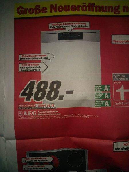 Lokal WÜ/SW/NES  AEG Favorit 65082 Geschirrspüler A+++ Idealo 589€