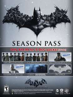 Batman™: Arkham Origins - Season Pass @ amazon.com