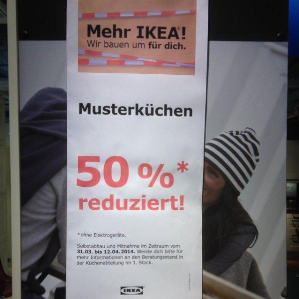 Ikea Eching - 50% auf Musterküchen (außer Elektrogeräte)