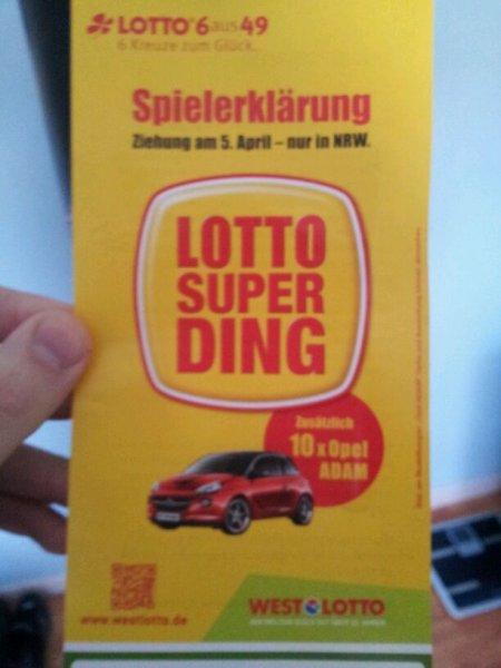 Lotto Super Ding in nrw