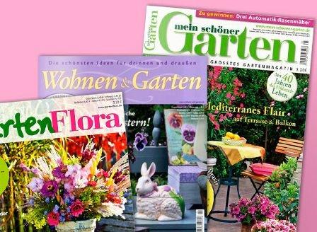 """[Leserservice] Garten-Zeitschriften """"Mein Garten"""" / """"Wohnen und Garten"""" 12 Monate für rechnerisch 8 EUR mit Otto / MeinPaket Gutschein bzw. 13 EUR mit Amazon-Gutschein"""