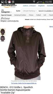 Bench Available Zip Herren Trainingsjacke in Braun Gr.S, M, L nur 20,80 Euro