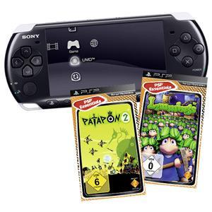 Playstation Portable PSP 3004 mit Patapon 2 und Lemmings Bundle