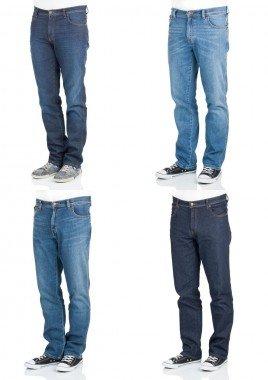 Wrangler Texas Stretch Jeans vier verschiedene Waschungen