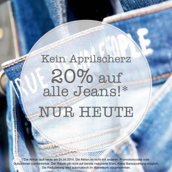 [MUSTANG] 20% auf JEANS nur Heute + 7% Cashback Qipu