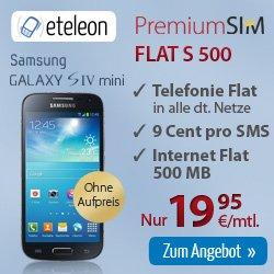 Samsung Galaxy S4 mini + Inter + Allnet Flat nur 19,95€ im Monat