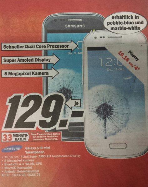 [offline]Samsung s3 mini 129€ Köln media markt