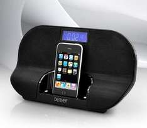 Denver IFM 90 Dockingstation für iPod/iPhone, Schwarz für €19,99 VSK frei @comtech
