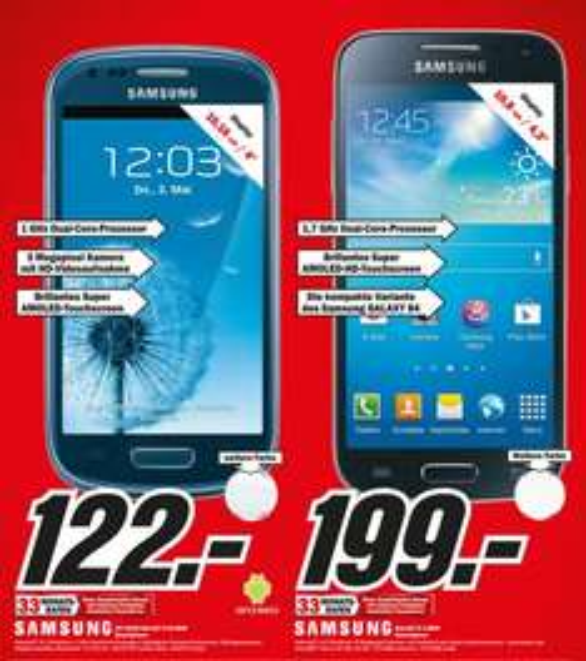 [lokal MM Lüneburg] Samsung S3 Mini 122 € (und S4 Mini 199 €)