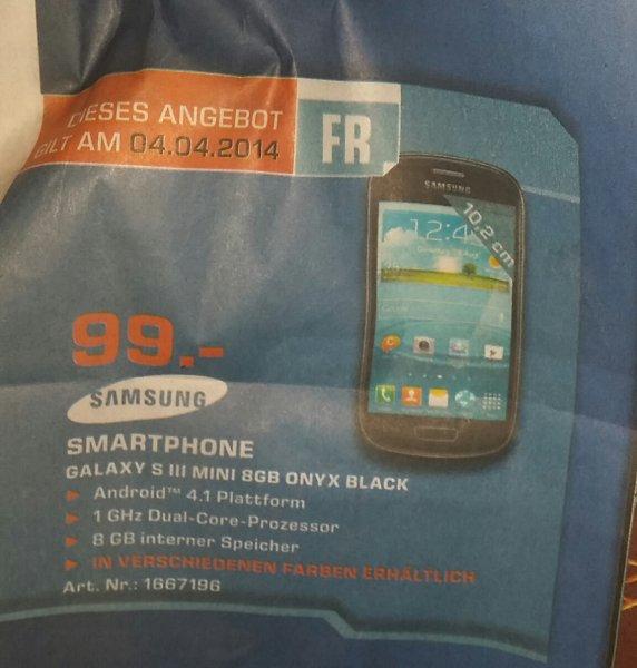 [Lokal Saturn Stuttgart/Esslingen] Samsung Galaxy S3 mini für 99€ + weitere Angebote