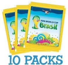 Panini FIFA WM 2014 Sammelbilder - 10 x Sticker Packs