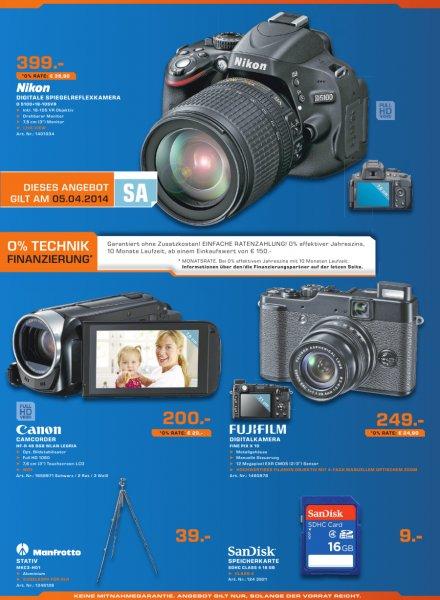 [Lokal] DSLR Nikon D 5100 mit 18-105 VR Objektiv im Saturn Stuttgart und Esslingen *nur am Sa 05.04.2014*