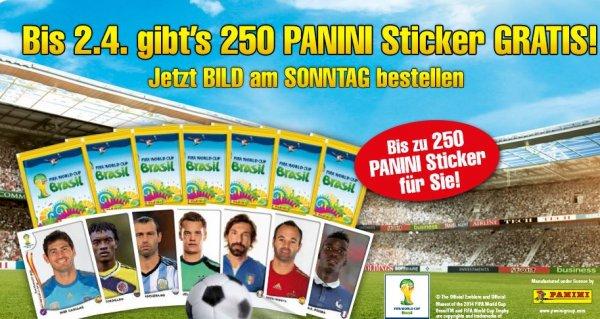 50 Panini Sticker Päckchen + 13 mal BamS