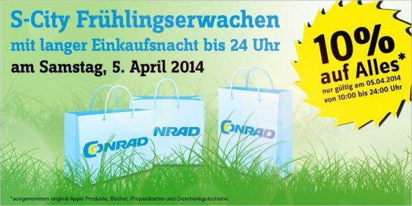[lokal Stuttgart] - Conrad - 10% auf (fast) Alles am 05.04.2014
