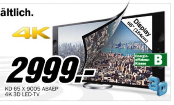 Sony 65Zoll UHD/4K Fernseher KD65x9005A