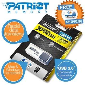 128GB Patriot Supersonic Xpress USB3.0-Flash-Laufwerk für 49,95€ bei iBOOD incl.Versand
