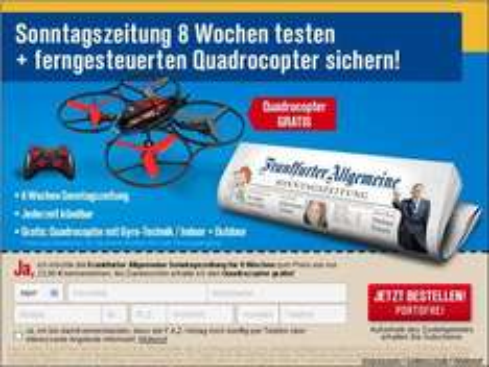 Frankfurter Allgemeine Sonntagszeitung mit Quadrocopter