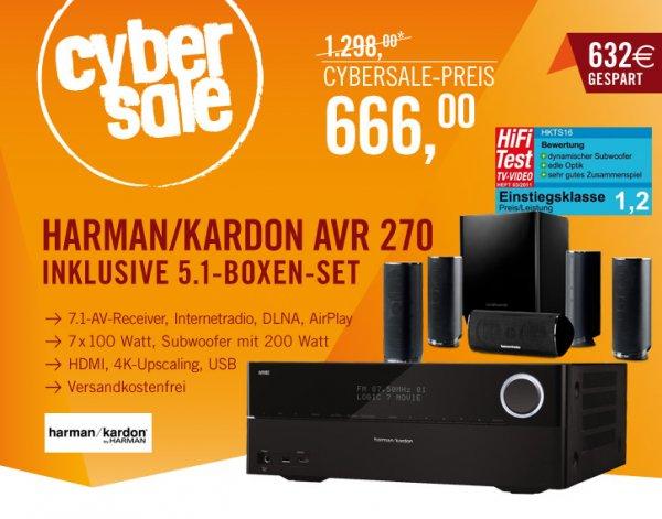 Harman Kardon AVR 270 7.1 AV-Netzwerk-Receiver & HKTS16 Lautsprechersystem für 666 Euro @Cyberport