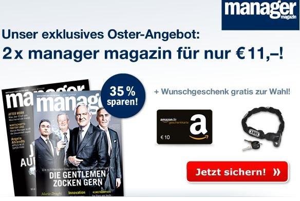2x Ausgaben Manager Magazin + ABUS Catena 685/75, 75 cm für 11€