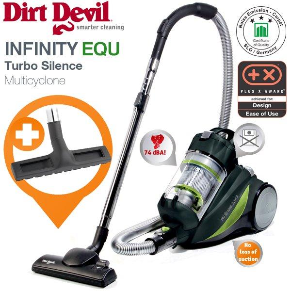 Multizyklon Staubsauger -Dirt Devil- EQU M5080+extra Parkettbürste Preisverlgeich: 104,73€ für 88,90€