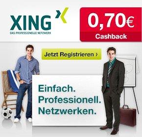 Kostenlos bei Xing registrieren und 70 Cent Gewinn durch Cashback machen [Qipu]