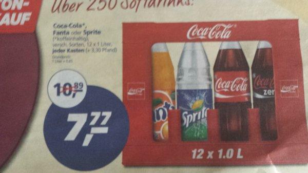 [Lokal Mönchengladbach] [Real] Kasten Cola, Fanta etc. (12 x 1 Liter) 7,77 € mit Payback-Coupon 6,27 €