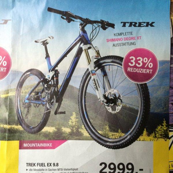 Update: lokal: TREK FUEL EX9.8 MTB / 25€ Gutschein Lucky Bike Würzburg